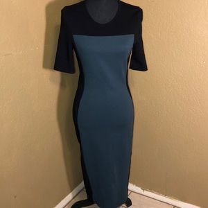 Stella McCartney black /green short sleeve sheath